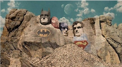 Superhero Mount Rushmore