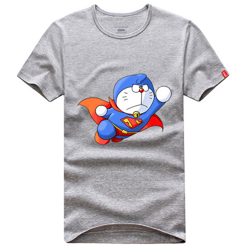 superman doraemon Flying logo new stlye t kemeja