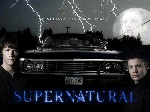 Supernatural wallpaper possibly containing a sedan, an automobile, and a sign called Supernatural ♥