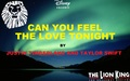 taylor-swift - TLK Broadway Musical - Can You Feel The Love Tonight - Justin Timberlake and Taylor Swift wallpaper