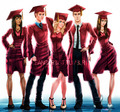 TVD Graduation topi, cap and gaun