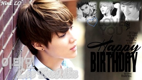Taemin Happy Birthday Pics par fans