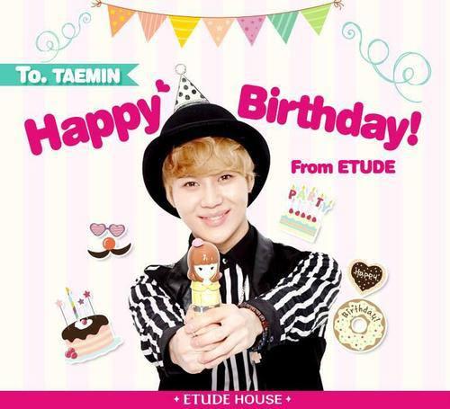 Taemin Happy Birthday Pics by Фаны