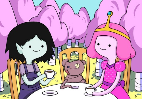 Adventure Time With Finn and Jake wallpaper with anime titled Tea Time!