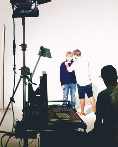 The Hunger Magazine Photoshoot - BTS
