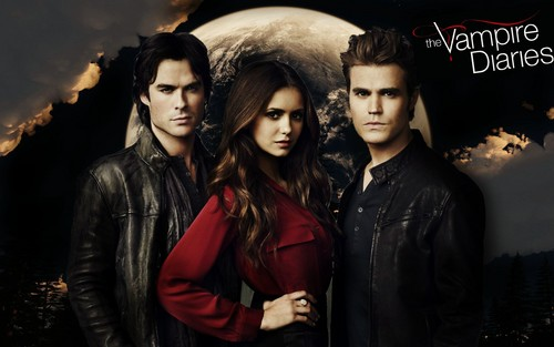The Vampire Diaries پیپر وال probably with a well dressed person, a box coat, and an outerwear titled The Vampire Diaries