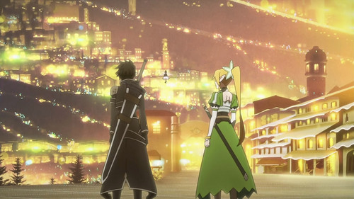 Sword Art Online wallpaper titled The city of lights!