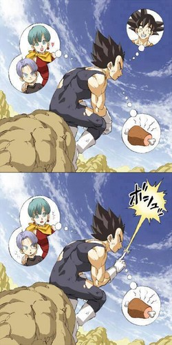 The thoughts of Vegeta