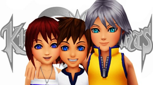 kingdom hearts wallpaper titled The three besties!<3