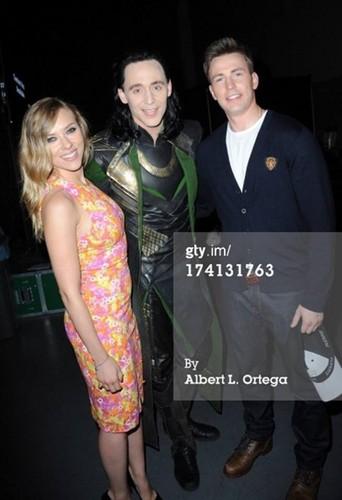 Tom, Chris and Scarlett