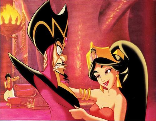 Walt disney Book gambar - Prince Aladdin, Jafar & Princess melati