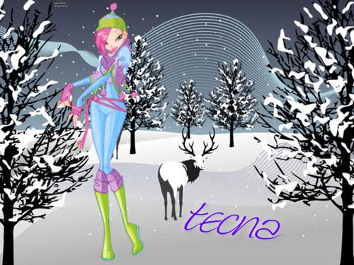 Winx Winter Hintergründe