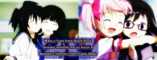Yomi and Mato,Madoka and Homura