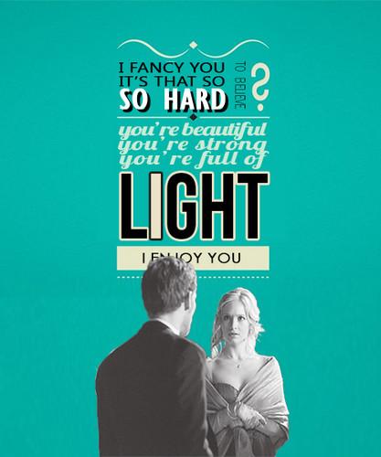 You're beautiful, you're strong, you're full of light. I enjoy you.