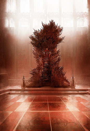 A Song of Ice and Fire wallpaper probably with a street, a royal palm, and a drawing room entitled The Iron Throne