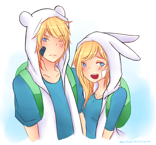 Adventure time fionna and finn kiss