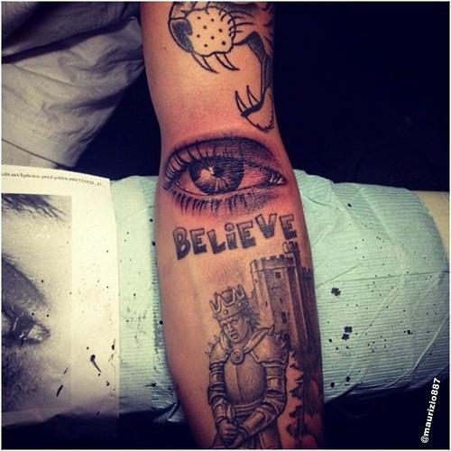 justin bieber. tattoo always watching, 2013