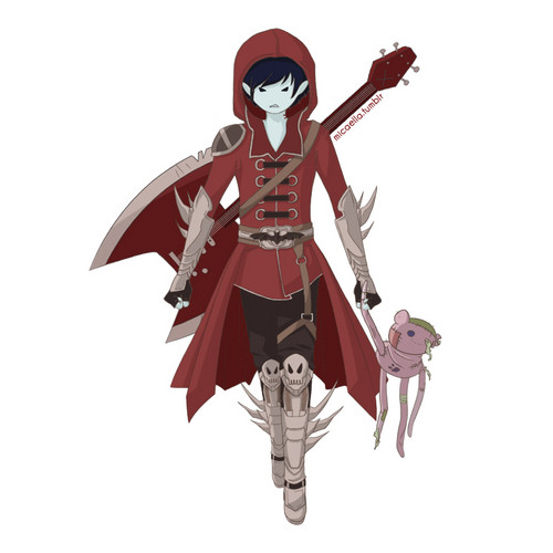 Fiolee (Fionna et Marshal Lee) fond d'écran with a surcoat, surcot and a tabard entitled marshall lee
