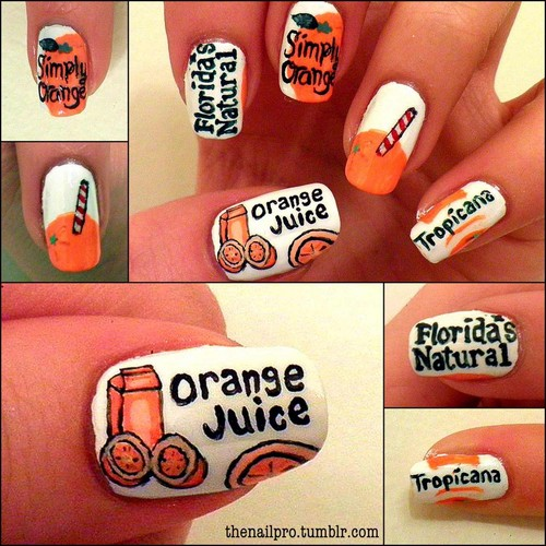 Nails, Nail Art wallpaper called orange juice