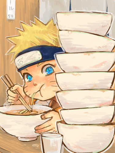 naruto eating ramen coloring pages - photo#21
