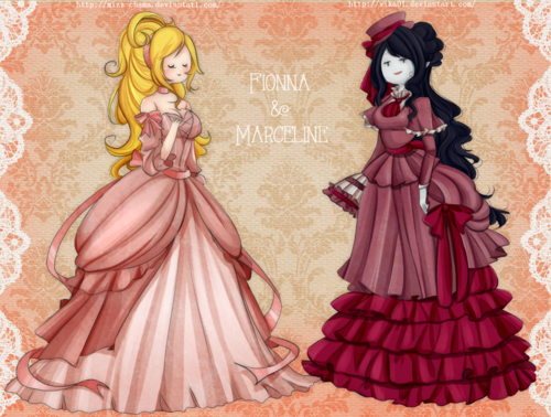 Fiolee (Fionna et Marshal Lee) fond d'écran entitled victorian dress