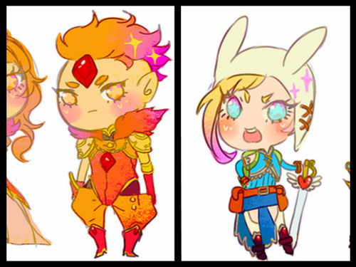 warrior flame prince and fionna