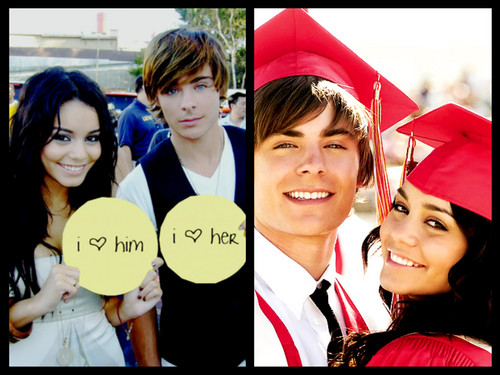 Zac Efron & Vanessa Hudgens wallpaper entitled zac and vannessa
