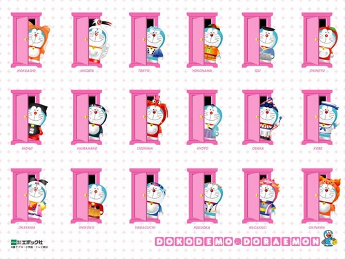Doraemon Hintergrund probably with a hexagon, sechseck titled ♡ Doraemon ♡