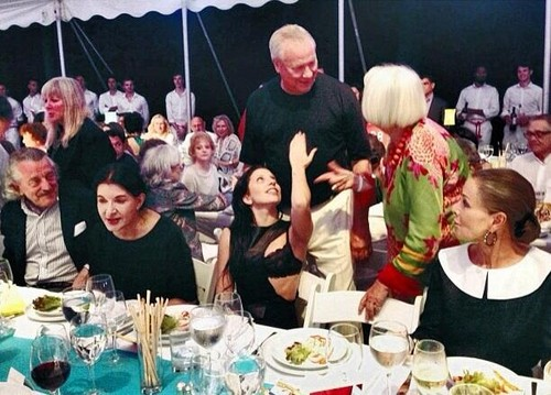 Lady Gaga At Watermill Benefit Auction with marina Abramović (July 27)