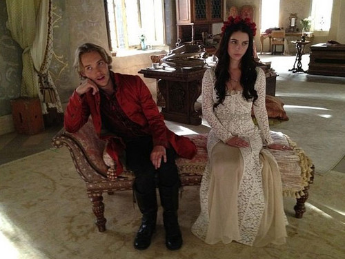 "Reign [TV Show] Обои possibly with a bridesmaid and a платье, бальное платье called ""Reign: BTS"""