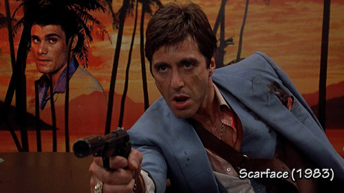 filmes clássicos wallpaper possibly with a holding cell entitled Scarface 1983