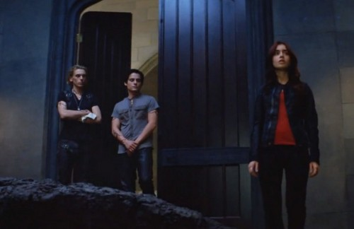 """The Mortal Instruments: City of Bones"" Alec, Jace and Clary still"