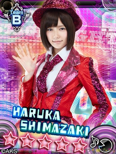 'new akb kami7' from the gree card game CM