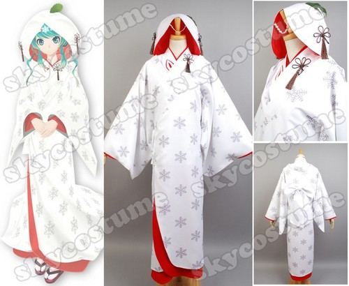 2013 Edition Snow Miku Marry Suit Cosplay Costume from Vocaloid