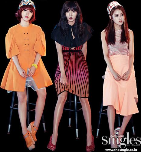 4Minute Singles magazine July 2013