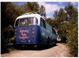 A hippie furgão, van