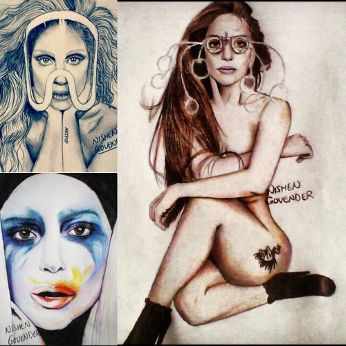 Lady Gaga wallpaper probably with anime called ARTPOP drawings