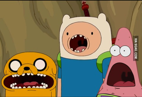 Adventure Time joined with Patrick