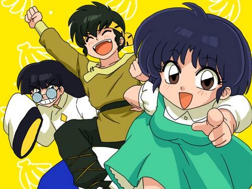 Akane, Ryoga, and mousse