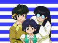 Akane, Ryoga, and Mousse