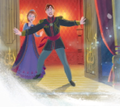 Anna and Elsa's parents: King and 皇后乐队 from Arendelle