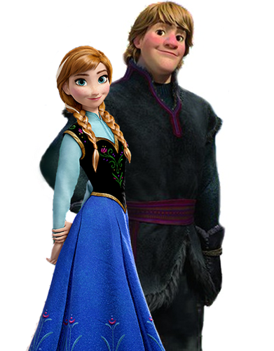 Princess Anna kertas dinding probably with a surcoat titled Anna and Kristoff