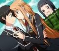 Asuna, Kirito and Yui