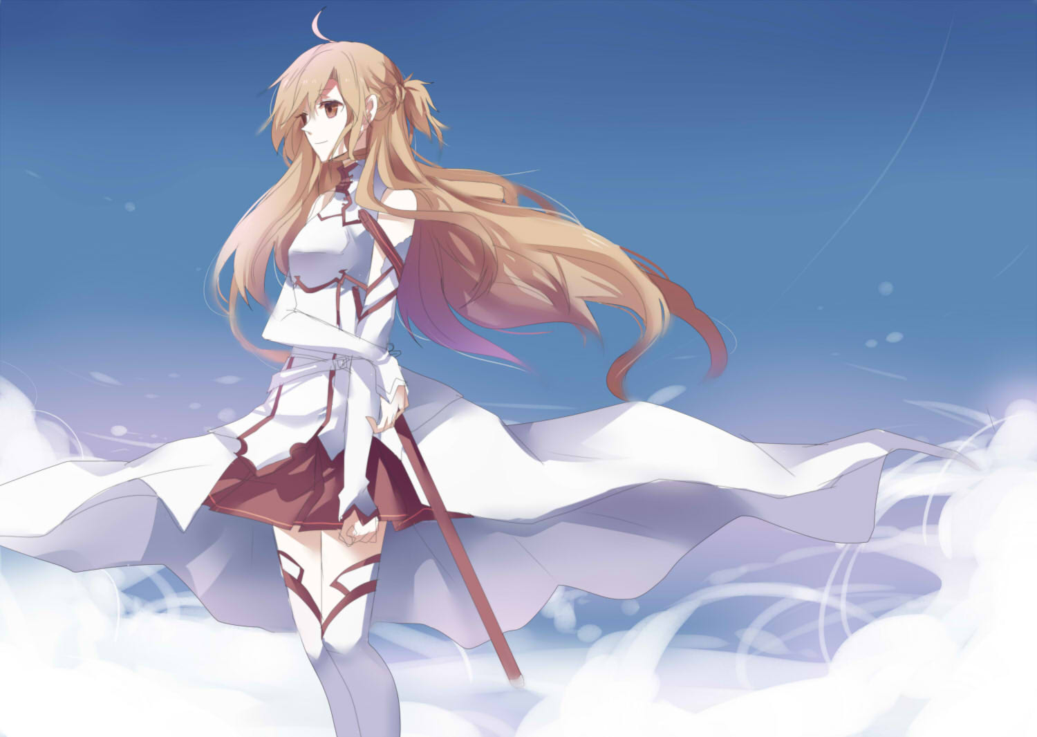 sao wallpapers asuna blue hair - photo #16