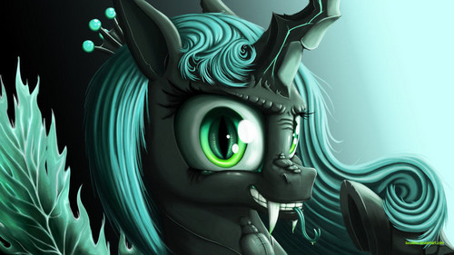 MLP FIM Queen Chrysalis fond d'écran possibly with animé called Awesome Chrysalis pics
