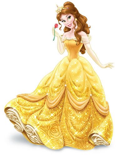 disney princesas wallpaper titled Belle wearing tiara