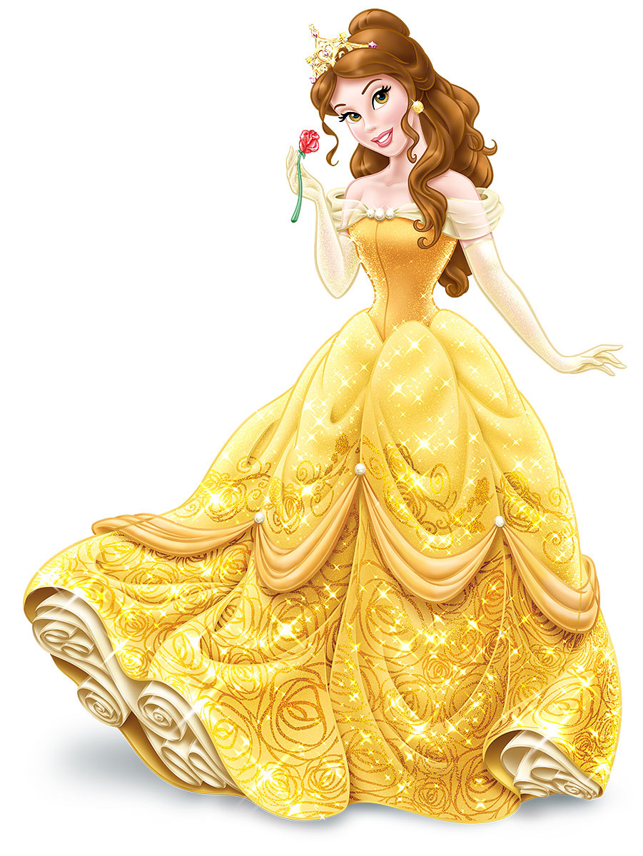 Belle wearing tiara