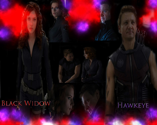 Blackwidow & Hawkeye fond d'écran