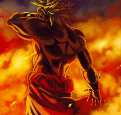 Dragon Ball Z fond d'écran containing animé titled Broly the Legendary Super Saiyan...