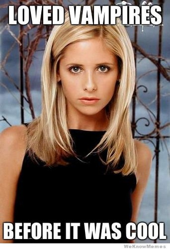 Buffy – Im Bann der Dämonen Hintergrund with a portrait entitled Buffy Memes